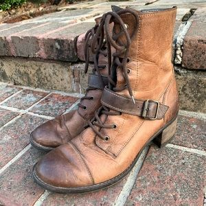 Paul Green Norway Combat Moto Leather Boots